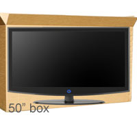 50inch Plasma Tv box with 15m of foam wrap
