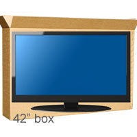 42inch Plasma Tv box with foam wrap
